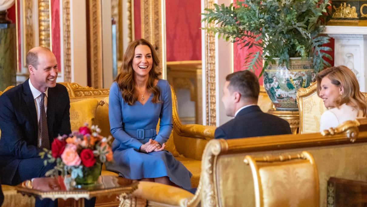 Принц Вільям і Міддлтон прийняли Зеленських у Букінгемському палаці | ТаблоID