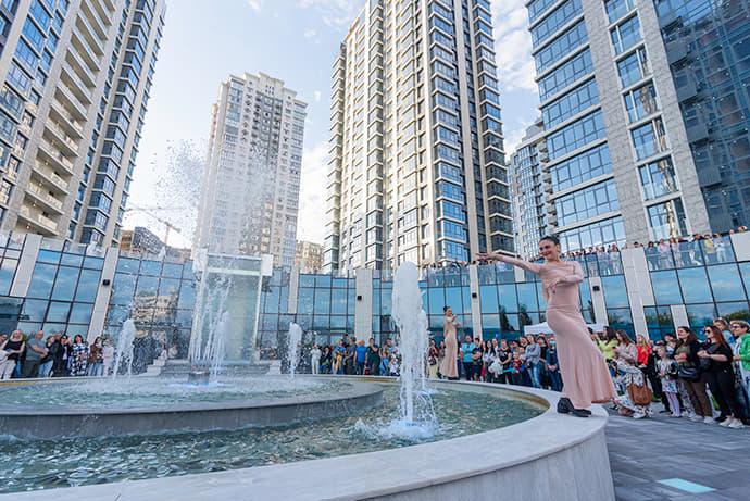 Новий фонтанний комплекс в Новопечерських Липках