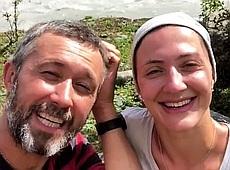 Подружжя Сергій та Сніжана Бабкіни влаштували собі гірський відпочинок у Грузії: яскраві фото